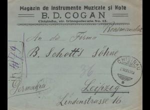 Rumänien: 1923: Chisnau nach Leipzig