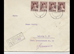 Rumänien: 1928: Einschreiben Sebesalba nach Leipzig