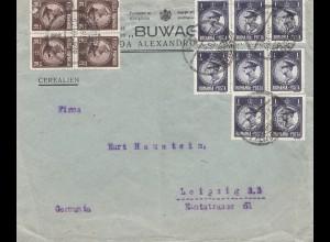 Rumänien: 1932: Brief nach Leipzig