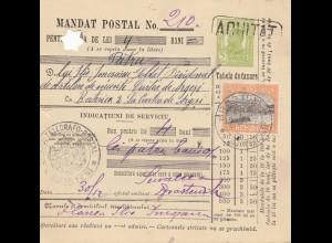 Rumänien: 1913: Mandat Postal Brostenitz nach Curtea de Arges