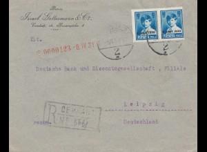 Rumänien: 1931: Einschreiben nach Leipzig