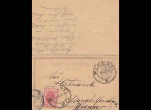 Rumänien: 1903: Ploesti nach Wien, Ganzsache