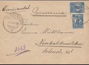 Rumänien: 1924: Brief nach Neuhaldensleben