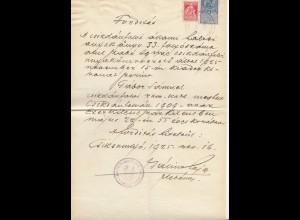 Rumänien: 1925: Peosetje