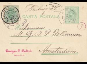 Rumänien: 1902: Braila nach Amsterdam