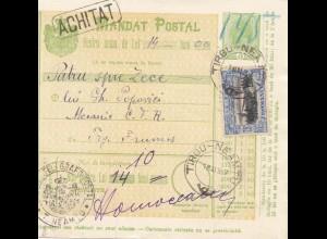 Rumänien: 1907: Mandat Postal Tirgu Neamtu