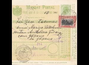 Rumänien: 1907: Mandat Postal Alexandria