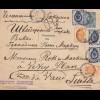 Russland: 1899: Brief in die Schweiz