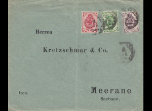 Russland: 1898 Brief mach Meerane