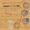 Russland: 1910: Paketkarte als Einschreiben