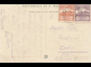 San Marino: 1923: Ansichtskarte nach Tirol