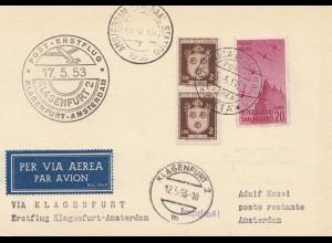 San Marino: 1853: Luftpost nach Amsterdam über Klagenfurt