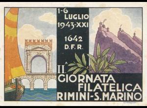 San Marino: 1943 Karte nach Italien