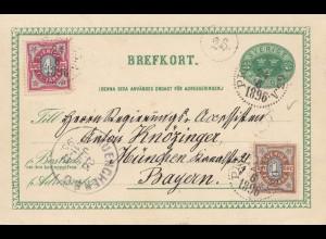 Schweden: 1896: Ganzsache nach München