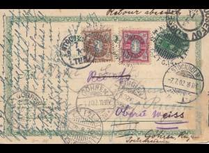 Schweden: 1902: Ganzsache Stockholm nach Göhren
