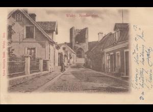 Schweden: 1903: Ansichtskarte Wisby nach Stockholm
