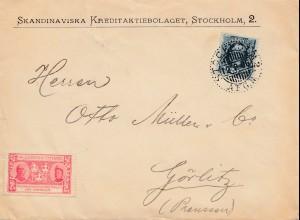 Schweden: 1906: Brief von Stockholm nach Görlitz