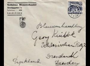 Schweden: Brief aus Landskron nach Dresden