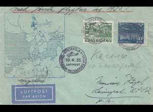 Schweden: 1935: Stockholm Luftpost nach Russland