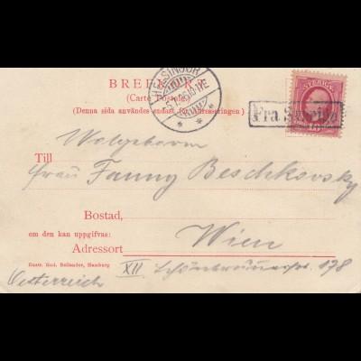 Schweden: 1906: Ansichtskarte Helsingborg nach Wien
