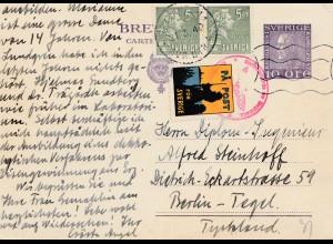 Schweden: 1940: Ganzsache nach Berlin