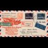 Schweden:1948: Luftpost Einschreiben Halmstad nach Grossenhain,Devisen Kontrolle