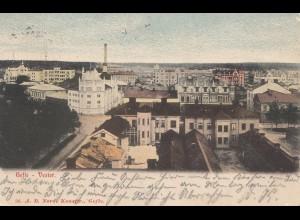 Schweden:1905: Ansichtskarte Gesle-Vester nach Wilhelmshaven