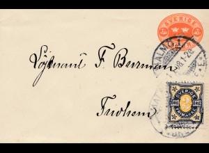 Schweden:1908: Ganzsache von Malmö