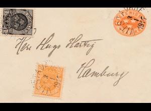 Schweden: 1914: Ganzsache Vifstavarf nach Hamburg
