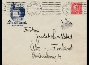 Schweden: 1934: Brief von Stockholm nach Finnland