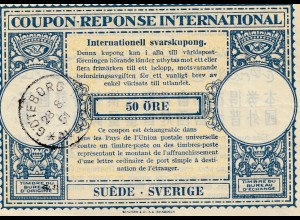 Schweden: 1951: Göteborg Antwortschein