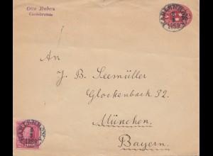 Schweden: 1899: Brief Karlskrona nach München