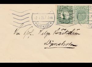 Schweden: 1921: kleiner Brief