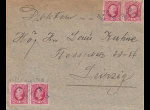 Schweden: 1903 Brief nach Leipzig