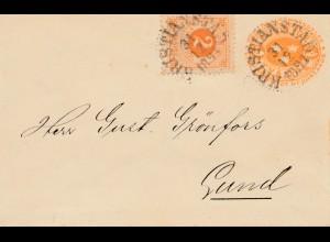 Schweden: 1891: Kristianstad nach Lund