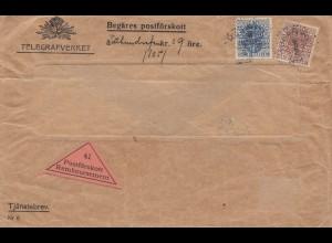 Schweden: 1916: Telegrafverket - Nachnahme
