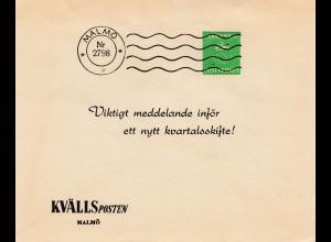 Schweden: Malmö Kvälls Posten