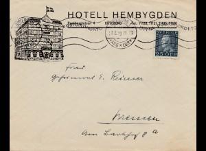 Schweden: 1929: Göteborg nach Bremen