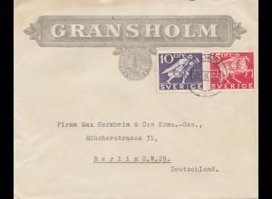 Schweden: 1936: Gransholm Gemla nach Berlin