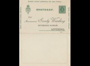 Schweden: 1907: Korbref nach Göteborg
