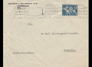 Schweden: 1933: stockholm nach Graslitz