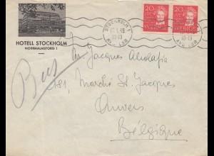 Schweden: 1949: Stockholm nach Belgien