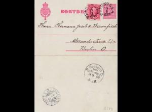 Schweden: 1899: Kortbref nach Berlin