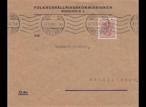 Schweden: 1919: Stockholm nach Hälsingborg