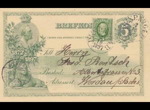 Schweden: 1897: Ganzsache nach Werdau