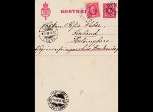 Schweden: 1896: Ganzsache nach Finland