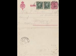 Schweden: 1894: Kortbref nach Ilsenburg