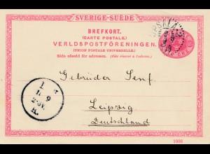 Schweden: 1908: Upsla nach Leipzig
