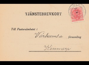 Schweden: 1919: Tjänstebrevkort Ulricelanns