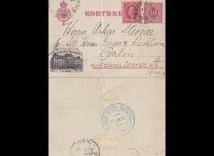 Schweden: 1894: Kortbref nach Berlin